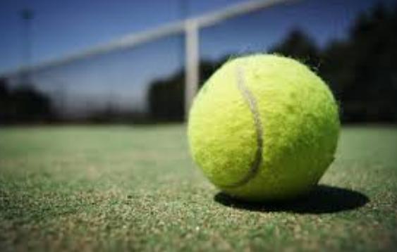 テニスボールでキャッチボール
