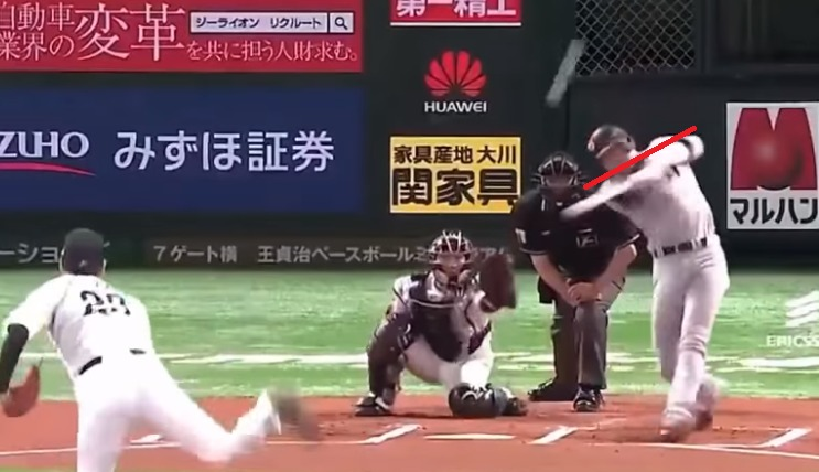 坂本勇人選手のスイング
