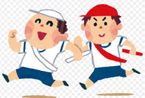 少年野球の大会と運動会のリレー
